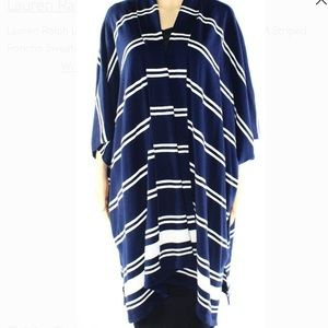 NWT Ralph Lauren striped poncho sweater size large